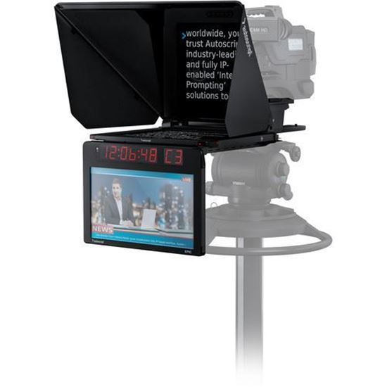 """Picture of Autoscript EPIC-IP on-camera package with 17"""" prompt monitor and integrated 17"""" talent monitor"""