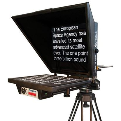 "Picture of Autocue Master Series 17"" Prompter with Large Wide Angle Hood for Large Studio Lens"