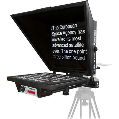 "Picture of Autocue Master Series 20"" Prompter with Large Wide Angle Hood, Pro Plate and Short Rods"