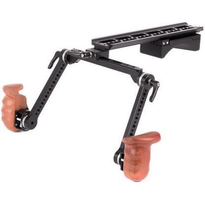 Picture of Wooden Camera - Shoulder Rig v2 (Premium, Wooden Grip)