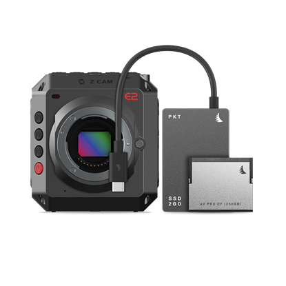 Picture of Angelbird Match Pack for Z CAM E2 512GB SSD2go PKT Grey | 256GB CFast