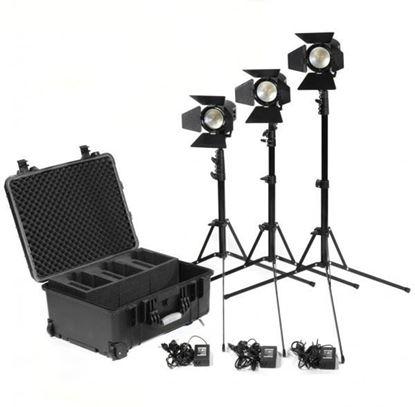 Picture of Kinotehnik Practilite 602 LED Bi-Color Fresnel 3-Light Kit