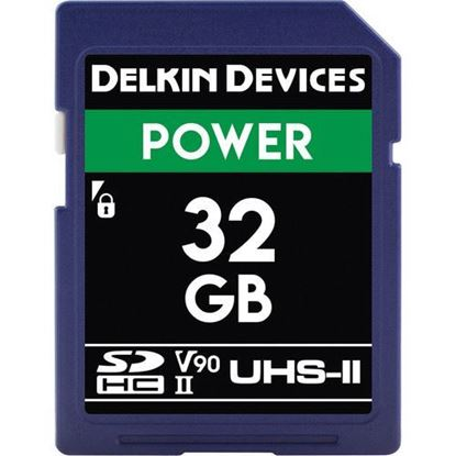 Picture of Delkin Devices 32GB Power UHS-II SDHC Memory Card