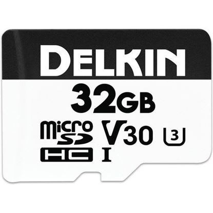 Picture of Delkin Devices 32GB Advantage UHS-I microSDHC Memory Card