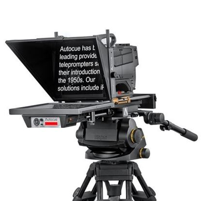 """Picture of Autocue/QTV Master Series 17"""" SDI Prompter Kit with Medium Wide-Angle Hood & Pro Plate"""
